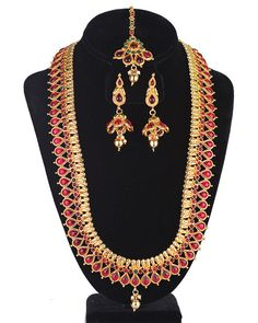 Ethnic Bridal Wedding Traditional Hot Fashion Jewelry Necklace long color stone