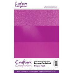 Crafters Companion Crafters Companion Luxury Cardstock Pack - Purple - Crafters Companion from Mountain Ash Crafts UK