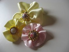 Flores de fita de cetim - Como Faz