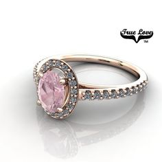 a1d403ce9 Pink morganite halo diamond engagement ring. Need to make changes to this  ring or design