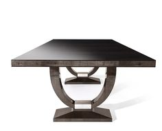 DAVIDSON London - The Katya Table in Sycamore Black and Silver Leaf