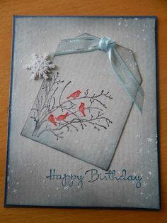 Dianne's cards--SU Serene Silhouettes--Sentiment SU Happiest Birthday Wishes