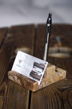 Drewniany stojak na długopisy, wizytownik - PiatyElement - Pozostałe