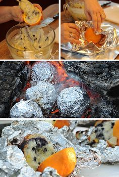 Campfire Orange Blueberry Muffins   29 Camping Recipes That'll Make You Look Like A Genius