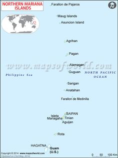 #NorthernMariana Map