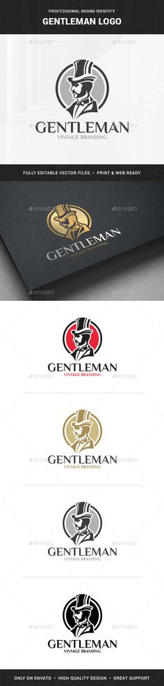 Gentleman Logo Template