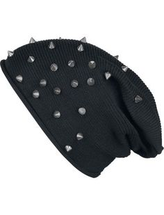 Studded Light Beanie by Black Premium by EMP