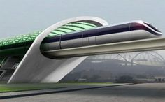 "Aeromovel Train - Similar to Elon Musk's Hyperloop - Tesla Motor's CEO Elon Musk recently revealed his plans for a new green vehicle, dubbed the ""Hyperloop"" that could transport people from Los Angeles to San Francisco in 30 minutes flat."