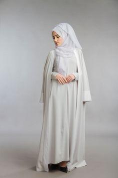 Parduh - Modest Clothing | Abayas Hoody Scarf. Product Reviews. Grey Abaya Set. Grey Abaya Set