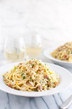 Spaghetti Carbonara with Crab and Meyer Lemon - Meyer lemons and crab ...