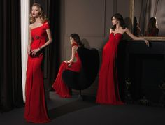 Gorgeous 2014 Bridesmaid Dresses from Aire Barcelona ladies in red