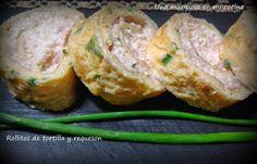 Una mariposa en mi cocina: Rollitos de tortilla y requeson