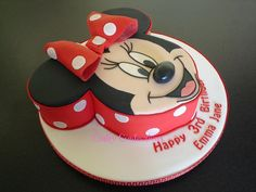 Red Minnie Mouse Birthday Cake images
