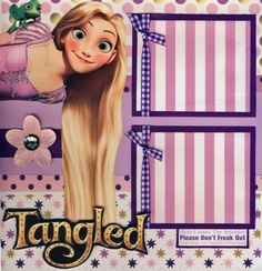 TANGLED-RAPUNZEL-girl-2-premade-scrapbook-pages-4-album-paper-layout-CHERRY