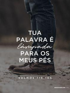 """""""Tua palavra é lâmpada para meus pés e luz para meu caminho."""" Salmos 119:105 #30DaysOfBibleLettering twitter: https://twitter.com/maisoverflow facebook:..."""