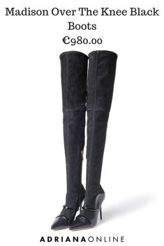 Take your boot game to the next level with Malone Souliers over the knee boots! Malone Souliers, Cold Day, Over The Knee Boots, Black Boots, Fall Outfits, Black Leather, Game, Clothes For Women, Outerwear Women