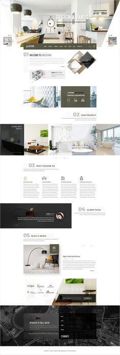 Arczone is beautifully design premium #PSD template for #Interior Design…