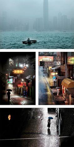 Hong-Kong in the Rain: Photos by Christophe Jacrot | Inspiration Grid | Design Inspiration