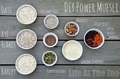 *DIY Muesli Recipe* Try this delicious, nutritious and healthy DIY Mueli recipe.