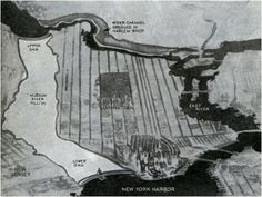 A novel idea on how to ease congestion from the 1930s: Pave over the Hudson River.