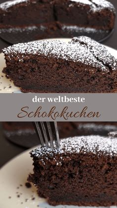 The juiciest chocolatiest chocolate cake of all time - my .- Der saftigste schokoladigste Schokokuchen aller Zeiten – mein Lieblingsrezept – kleinliebchen The juiciest chocolatiest chocolate cake of all time – my favorite recipe – kleinliebchen - Food Cakes, Easy Cake Recipes, Cookie Recipes, Frosting Recipes, Healthy Recipes, My Favorite Food, Favorite Recipes, Gateaux Cake, Healthy Snack Recipes