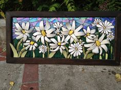 Mosaic flowers using cup,plate for dimension. by Nikki Murray-Mason, via Flickr