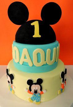 Nina by Lady: Torta decorada de Mickey bebe (tortas de cumpleaños infantiles)