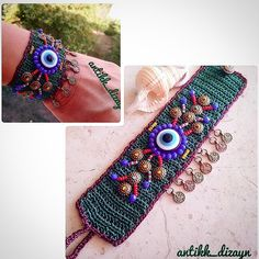 😊🍀🏵 💖🌼🌷🌻🌸🌹🐞 👉 WhatsApp no 05353592627 - Jewelry Textile Jewelry, Fabric Jewelry, Beaded Jewelry, Handmade Jewelry, Bracelet Crochet, Freeform Crochet, Bijoux Diy, I Love Jewelry, Love Crochet