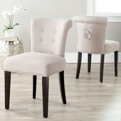 Safavieh Sinclair Ring Dining Chairs - Taupe - Set of 2 - MCR4705B-SET2