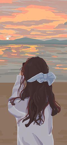 Cute Cartoon Images, Cartoon Art Styles, Cute Cartoon Wallpapers, Cartoon Pics, Dark Art Drawings, Anime Girl Drawings, Anime Drawing Styles, Iphone Wallpaper Cat, Graphic Wallpaper