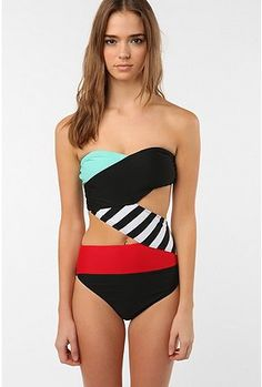 Different but modern bathing suit.