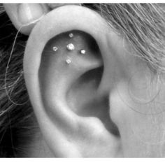 Cool ear piercings.