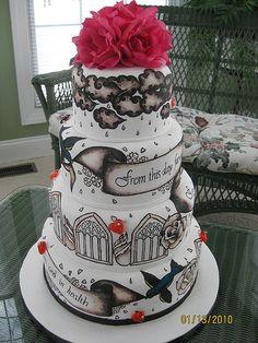 tattoo wedding cake~~ by: any way you ice it