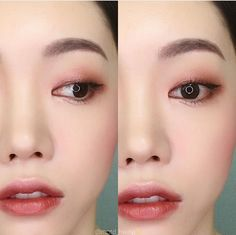 Korean makeup tutorials: Try not using hot water when showering or bathing. Warm water causes your pores and lets natural skin oils escape. After that you can will probably wash it away. You will also save money on the heating bill. Korean Beauty Tips, Korean Makeup Tips, Korean Makeup Look, Korean Makeup Tutorials, Asian Eye Makeup, Monolid Makeup, Makeup Eyeshadow, Beauty Makeup, Pink Eyeshadow