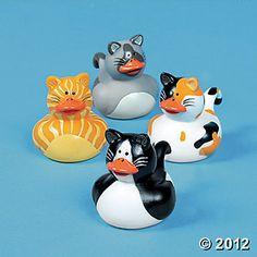 Cat Rubber Duckies