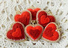 Elfi / Háčkované srdiečka ♥ v rôznych odtieňoch červenej Crochet Earrings, Jewelry, Fashion, Moda, Jewels, Fashion Styles, Schmuck, Jewerly, Jewelery