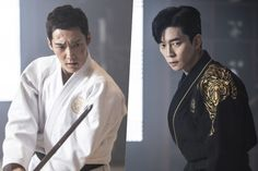 "Choi Jin Hyuk And Shin Sung Rok Test Their Swordsmanship In ""The Last Empress"" Choi Jin Hyuk, Lee Hyuk, Lee Joon, Lee Dong Wook, Ji Chang Wook, Korean Drama Movies, Korean Actors, Korean Dramas, Park Hyung"