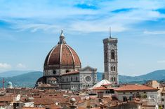 View of Florence's duomo from Hotel Bruneschelli. One of many things to do in Tuscany