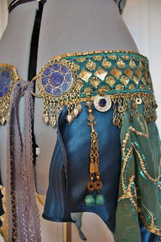 RESERVED FOR NYX Belly Dance Belt Atlantis Size by theverdantmuse  Beautiful Belt