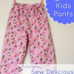 Quick & Easy Kids Pants – Tutorial