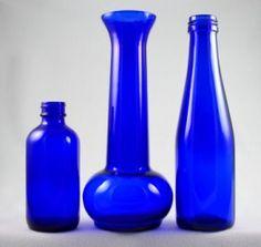 cobalt blue bottles