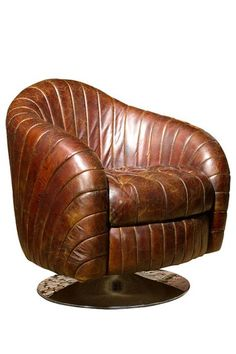 Dark Brown Geneva Club Chair.