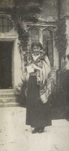 Snapshot of Virginia Woolf taken by Lady Ottoline Morrell at her home, Garsington, c. 1917.