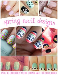 8 DIY Spring Nail Designs: Plus 10 Gorgeous Solid Color Options!