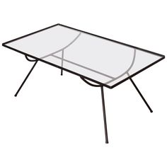 George Nelson for Arbuck Wrought Iron Glass Topped Cocktail Table | From a unique collection of antique and modern coffee and cocktail tables at https://www.1stdibs.com/furniture/tables/coffee-tables-cocktail-tables/
