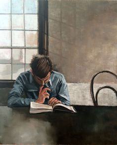 The Reader - oil painting by Mila Posthumus