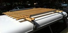 DIY Roof Rack Van Roof Racks, Kayak Roof Rack, Car Racks, Roof Rack Basket, Range Rover Classic, Wooden Car, Car Goals, Truck Accessories, Image House