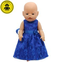 15色プリンセスドレス人形の服フィット43センチの赤ちゃん生まれツァップ人形服とアクセサリーd-20