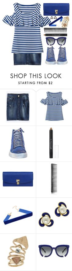 """""""Ootd"""" by simona-altobelli ❤ liked on Polyvore featuring Dolce&Gabbana, GHD, Chanel, Topshop, Grey Ant, StreetStyle, stripes, ootd, MyStyle and offshoulder"""