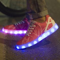 Women adult Led Luminous Shoes 2016 Top Quality LED Lights USB charging Colorful Shoes Lovers sneakers Flash Shoes free shipping